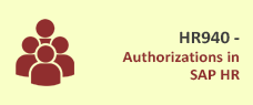 HR940 - Authorizations in SAP HR Training